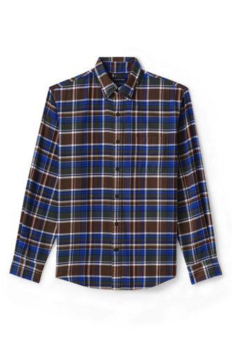 Men's Regular Slim Fit Patterned Flannel Shirt