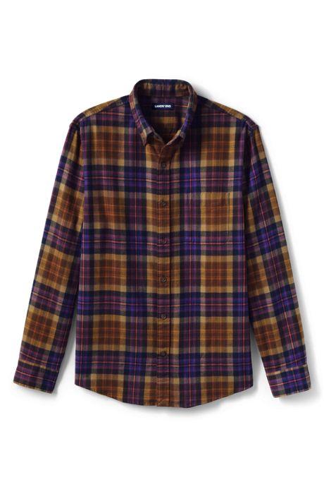 Men's Slim Fit Pattern Flagship Flannel Shirt