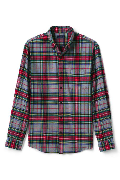 Men's Tall Tailored Fit Pattern Flagship Flannel Shirt