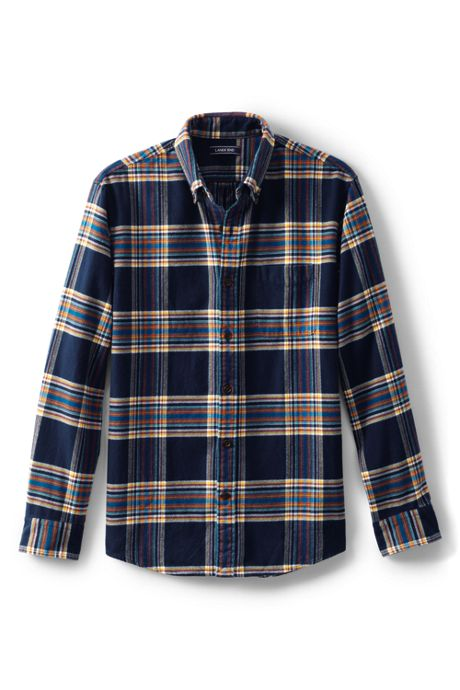 Men's Big and Tall Traditional Fit Pattern Flagship Flannel Shirt