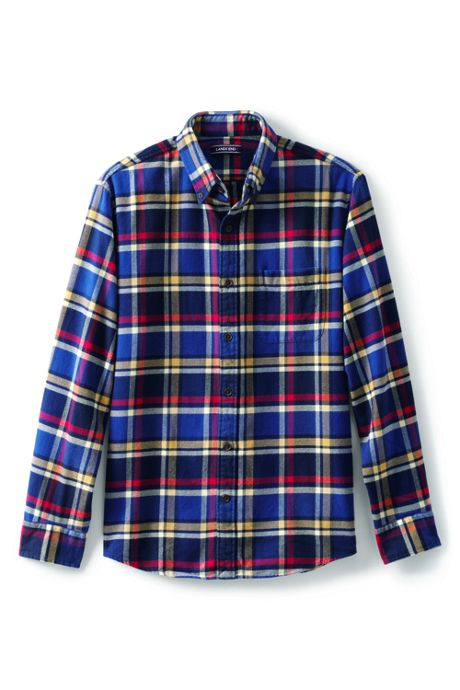 Unisex Traditional Fit Pattern Flagship Flannel Shirt