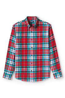 Men's Tall Tailored Fit Flagship Flannel Shirt, Front