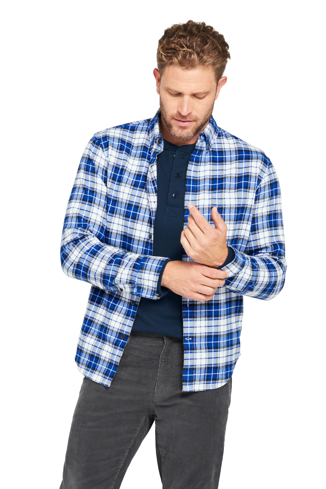 Men's Traditional Fit Rugged Flannel Shirt