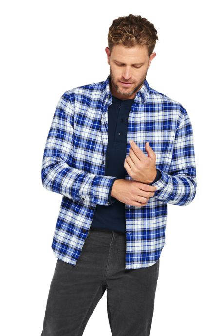Men's Traditional Fit Long Sleeve Pattern Flagship Flannel Shirt