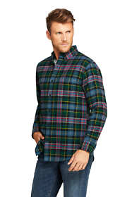 Men's Tall Traditional Fit Long Sleeve Pattern Flagship Flannel Shirt