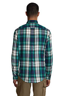 Men's Traditional Fit Pattern Flagship Flannel Shirt, Back