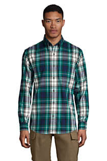 Men's Traditional Fit Pattern Flagship Flannel Shirt, Front