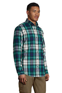 Men's Traditional Fit Pattern Flagship Flannel Shirt, alternative image