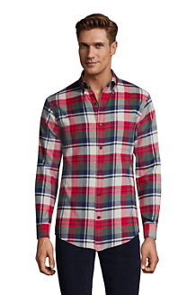 Men's Flagship Flannel Shirt, Tailored Fit