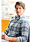 Men's Regular Traditional Fit Patterned Flannel Shirt