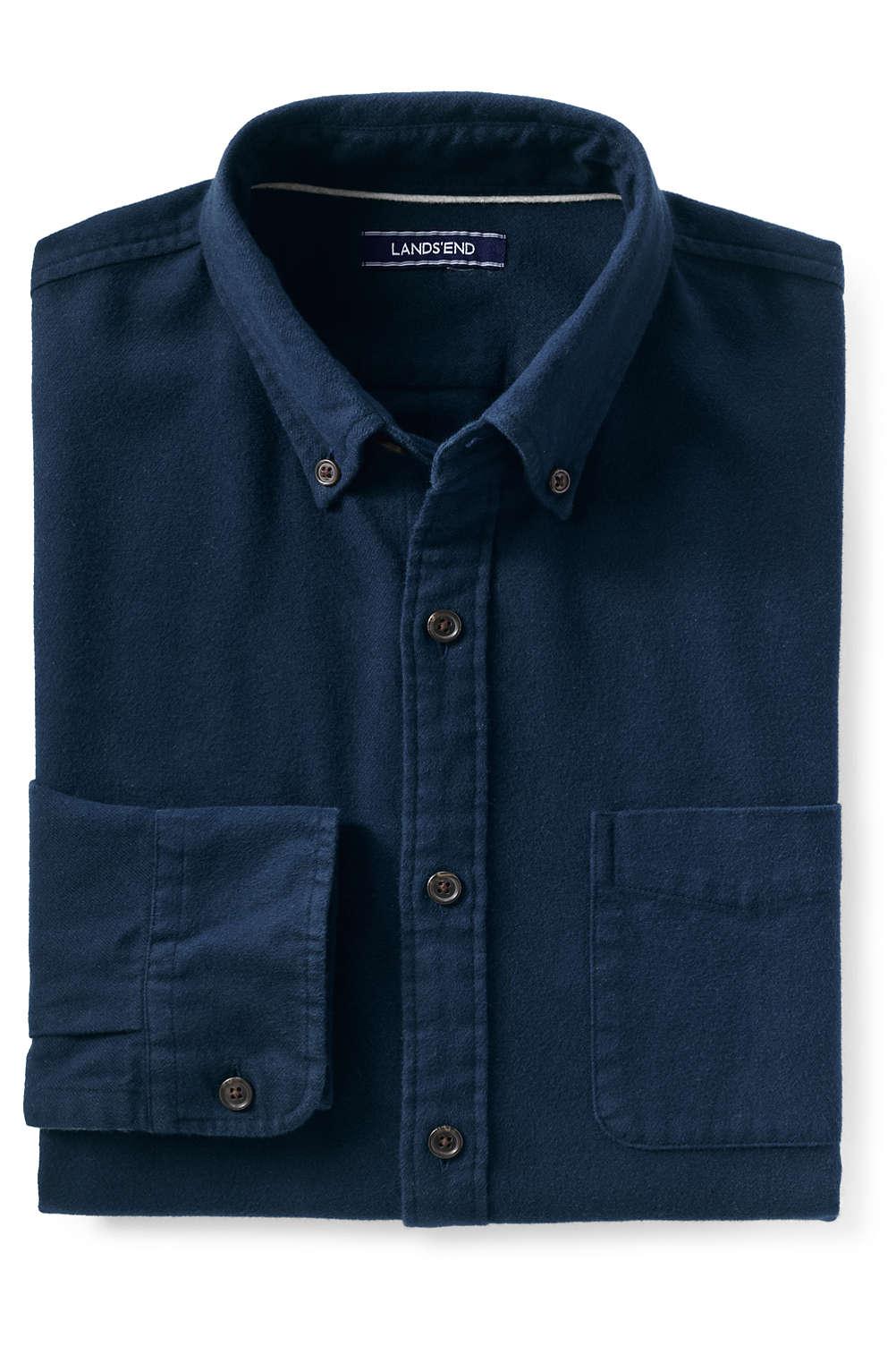 Men S Flagship Flannel Shirt From Lands End