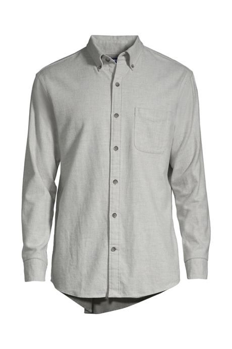 Men's Tall Tailored Fit Long Sleeve Solid Flagship Flannel Shirt