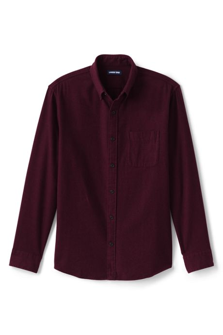 Men's Tailored Fit Long Sleeve Solid Flagship Flannel Shirt