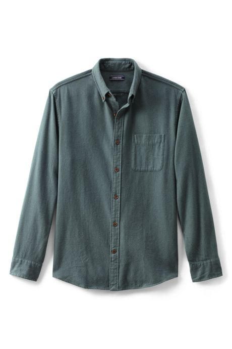 Men's Traditional Fit Long Sleeve Solid Flagship Flannel Shirt