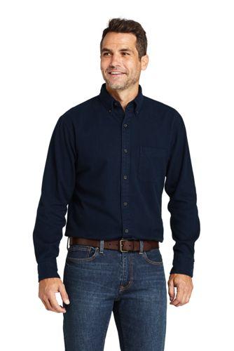 Men's Plain Flannel Shirt, Traditional Fit