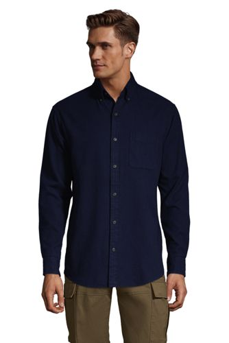 Men's Plain Flannel Shirt, Traditional Fit