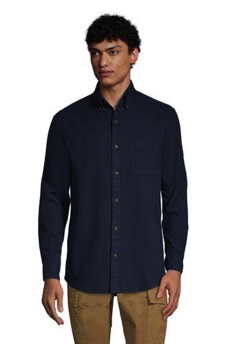 Men's Plain Flagship Flannel Shirt, Traditional Fit
