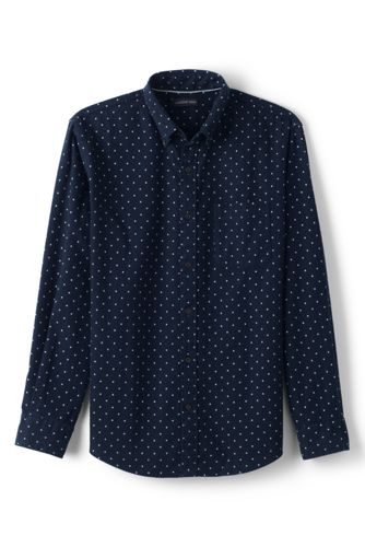 Men's Regular Print Traditional Fit Flannel Shirt