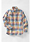 Little Boys' Patterned Washed Oxford Long Sleeve Shirt