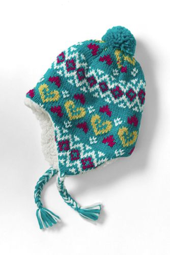 Girls Chunky Knit Peruvian Hat