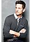 Men's Regular Long Sleeve Woven Collar Supima® Piqué Polo