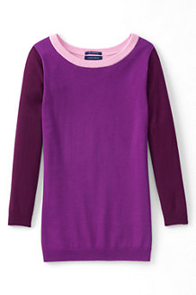 Women's Fine Gauge Supima® Colourblock Crew Neck