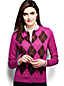 Women's Regular Argyle Supima®Fine Gauge Cardigan
