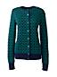 Le Cardigan Jacquard Supima® Fine Maille Léger Femme, Taille Standard