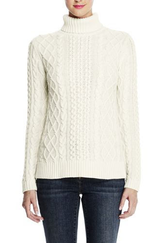 Women's Regular Lofty Cable Roll Neck