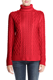 Women's Lofty Cable Roll Neck
