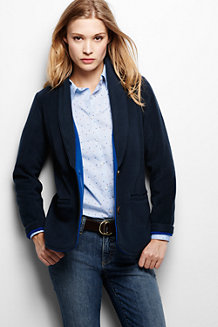 Women's Fleece Two Tone Blazer
