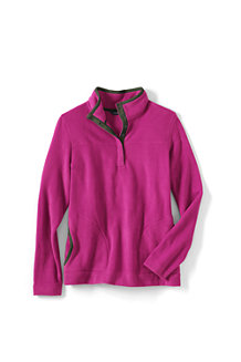Women's Stretch Fleece Button Polo Neck