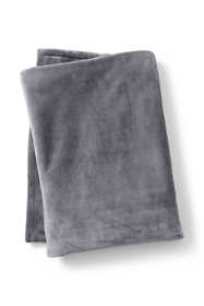 Plush Fleece Solid Throw