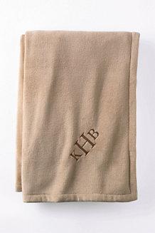 Plain Plush Fleece Throw