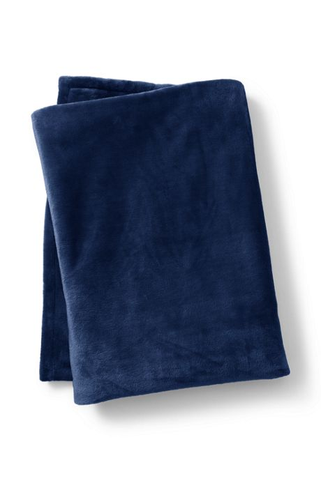 Plush Fleece Solid Throw Blanket
