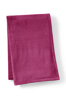 Plain Plush Fleece Throw