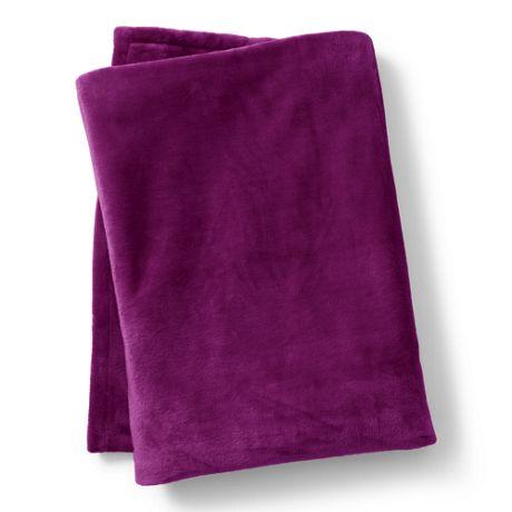 Plush Fleece Solid Throw Blanket