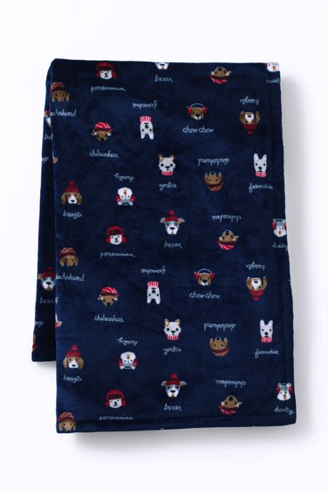 Plush Fleece Printed Throw