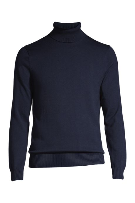 Men's Tall Supima Classic Fit Fine Gauge Supima Cotton Turtleneck