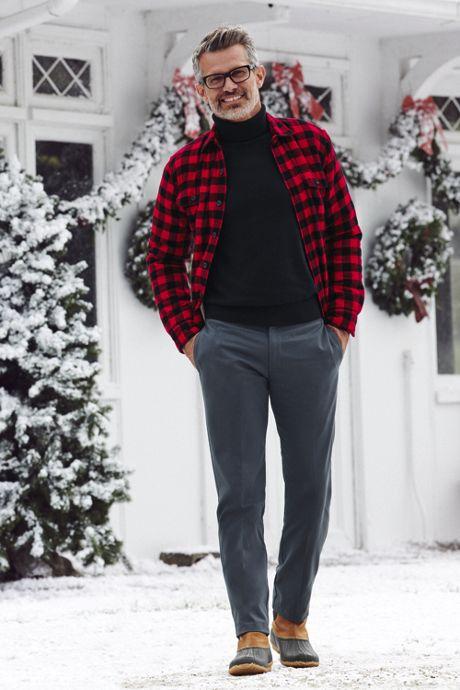 Men's Tall Supima Classic Fit Fine Gauge Supima Cotton Turtleneck