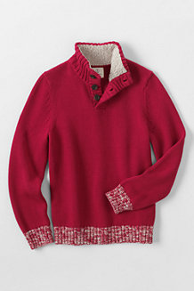 Boys' Button Down Polo Neck Jumper