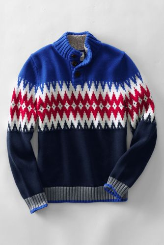 Little Boys' Nordic Polo Neck Sweater