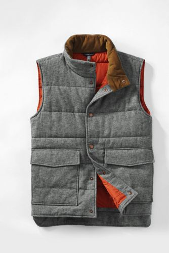 Men's Regular Herringbone Twill Insulated Gilet