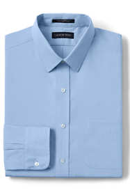 Men's Slim Fit Long Sleeve Straight Collar Broadcloth Dress Shirt