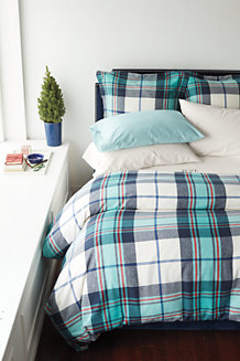 Plaid Flannel Square Oxford Pillowcase