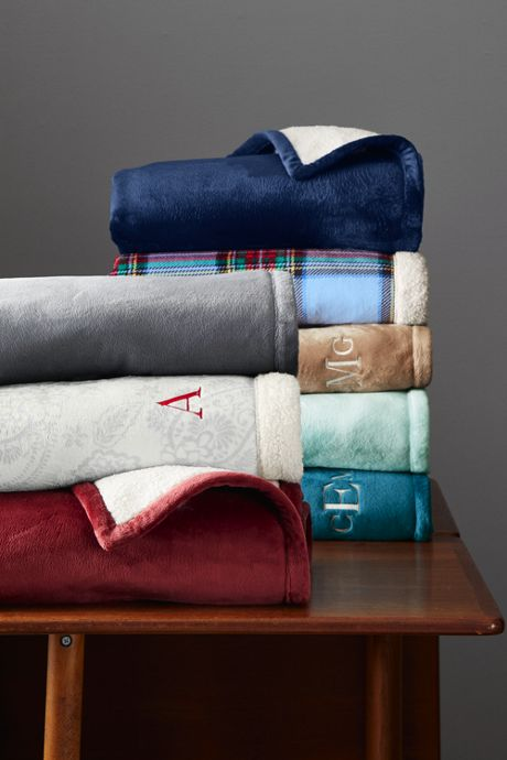 Sherpa Fleece Throw Blanket