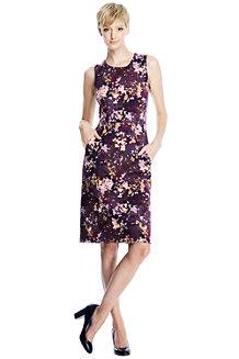 Women's Pattern Welt Pocket Shift Dress