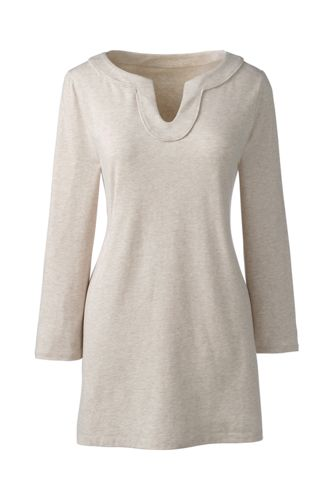 Women's Regular Notch Neck Jersey Tunic