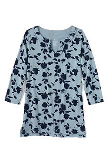 Women's Print Notch Neck Jersey Tunic