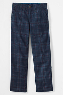 Boys' Iron Knee Plaid Cadet Trousers